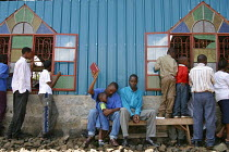 11-05-2003 - Worshippers at Gods Power Church and World Center of Healing pray for people with HIV/AIDS. Kenyans with HIV/AIDS come to Reverend John Nduatis church because of his professed power to cure them of AI... © R. Chalasani