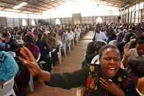 11-05-2003 - Kenyans with HIV / AIDS and their families at a service at Gods Power Church where they believe they might be cured. In a country where health care is minimal and most cant afford treatment for AIDS m... © R. Chalasani