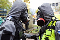 30-10-2011 - West Midlands Police officers, Birmingham Shield exercise simulating a chemical, biological, radiological or nuclear (CBRN) incident © Timm Sonnenschein