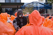 30-10-2011 - West Midlands Police officers and volunteers, Birmingham Shield exercise simulating a chemical, biological, radiological or nuclear (CBRN) incident © Timm Sonnenschein