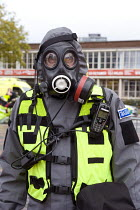 30-10-2011 - West Midlands Police officer, Birmingham Shield exercise simulating a chemical, biological, radiological or nuclear (CBRN) incident © Timm Sonnenschein