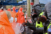 30-10-2011 - West Midlands Police officers and volunteers, Birmingham Shield exercise simulating chemical, biological, radiological or nuclear (CBRN) incident © Timm Sonnenschein