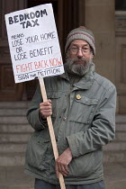 05-17-2013 - Protest against the bedroom tax outside Birmingham Council House during Albert Bores surgery. Albert Bore is the leader of the Labour Party run council and he represents Ladywood which has the highest... © Timm Sonnenschein