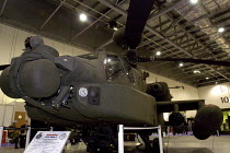 09-09-2003 - Agusta Westland Apache helicopter gunship on display, this powerful machine has recently gone into operational service with the British Army Air Corps. Defence Systems and Equipment International Exhi... © Paul Mattsson