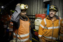 03-12-2015 - Miners coming off shift at Kellingley Colliery. Knottingley near Pontefract, Yorkshire.The last deep coal mine is scheduled to be closed in December 2015 bringing the deep coal mining industry to an e... © Mark Pinder