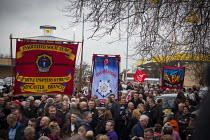 19-12-2015 - Protest by miners and supporters the day after Kellingley colliery closed down, West Yorkshire. © Connor Matheson