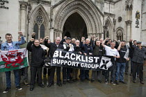 07-12-2015 - Blacklisted construction workers campaigning for justice and compensation. Royal Courts of Justice. London. © Jess Hurd
