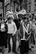 12-08-1979 - British Movement supporters heckle a Troops Out demonstration, Trafalgar Square, London 1979 © Philip Wolmuth