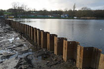 29-12-2015 - Hampstead Heath Ponds Project, 22 million City of London flood defence programme of dam strengthening and spillway construction designed to protect neighbouring areas of north London from extreme rain... © Philip Wolmuth