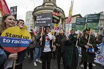 19-03-2016 - Stand Up to Racism National Demonstration - Refugees Welcome, Stand Up to Racism, Islamaphobia, anti-Semitism and fascism. Central London. © Jess Hurd