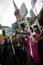 19-03-2016 - NUS delegation join the Stand Up to Racism National Demonstration - Refugees Welcome, Stand Up to Racism, Islamaphobia, anti-Semitism and fascism. Central London. © Jess Hurd