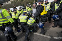 02-04-2016 - Police make arrests on Kent Anti Racism Network protest against the National Front anti refugee protest Dover. © Jess Hurd