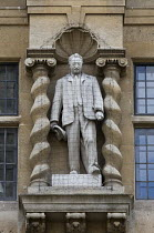 16-04-2016 - Statue of the British imperialist Cecil Rhodes, Oriel College University of Oxford © John Harris