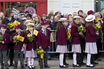 23-04-2016 - Pupils from The Croft Preparatory School. Commemorating 400th anniversary of William Shakespeare, Shakespeare's Birthday Celebrations, Stratford-upon-Avon © John Harris