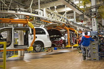 06-05-2016 - Windsor, Ontario Canada Car production Fiat Chrysler Automobiles Windsor Assembly Plant where FCA is producing the 2017 Chrysler Pacifica © Jim West