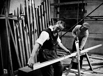 03-03-1962 - The rebuilding of Coventry Cathedral, completed in 1962, more than two decades after suffering terrible damage as a result of bombing during the Second World War. Foreman Carpenter, John Edward Taylor... © Alex Low