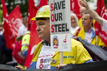 25-05-2016 - Steve Erwin. Steelworkers marching to demand government support the steel industry, Save Our Steel, Westminster, London. © Jess Hurd