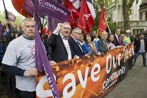 25-05-2016 - Steelworkers marching to demand government support the steel industry, Save Our Steel, Westminster, London. © Jess Hurd