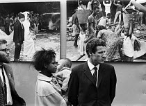 10-10-1969 - Romano Cagnoni of Report opening of a photographic exhibition by on Biafra 1969 during the Nigerian Civil War, London, The exhibition was staged in a tent in Trafalgar Square and sponsored by The Spec... © Patrick Eagar