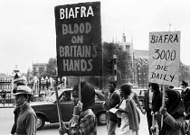 07-08-1968 - Supporters of Biafra protest against the British Government 1968 supplying arms to Nigeria during the Civil War, London © Romano Cagnoni