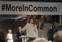 22-06-2016 - Memorial event to celebrate the life of murdered Labour MP Jo Cox. Love Like Jo, Trafalgar Square, London. Actor Bill Nighy speaking at the event with fellow actor Gillian Anderson by his side © Stefano Cagnoni