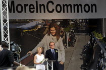 22-06-2016 - Memorial event to celebrate the life of murdered Labour MP Jo Cox. Love Like Jo, Trafalgar Square, London. Actor Gillian Anderson speaking at the event with fellow actor Bill Nighy by her side © Stefano Cagnoni
