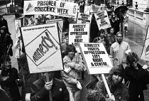 15-10-1983 - Amnesty International protest march to mark Prisoner of Conscience week, London, 1983. © Stefano Cagnoni