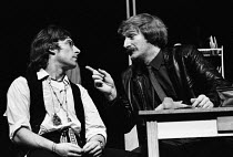 14-10-1983 - Maydays by David Edgar by RSC, The Barbican Theatre, London 1983. Anthony Sher (L) and Bob Peck (R) © Stefano Cagnoni