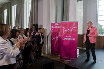11-07-2016 - Angela Eagle Labour Party launching her leadership bid. Prominent Labour women applauding at a press conference launching her bid to become Leader of the Labour Party, London, 2016 © Stefano Cagnoni