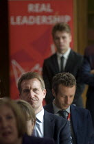 11-07-2016 - Angela Eagle Labour Party launching her leadership bid. Dan Jarvis MP, whom many have noted as a potential Labour Leader himself, watching from the shadows. © Stefano Cagnoni
