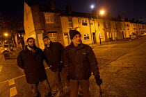 18-11-2013 - A community group patrolling Page Hall, Sheffiled, moving on children playing in the street © Jess Hurd