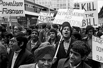 21-03-1971 - Asian youth march against the 1971 Immigration Act, London with The Indian Workers Association © Peter Arkell