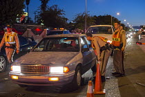 23-06-2016 - Las Vegas, Nevada, Police sobriety checkpoint, Vegas Valley Drive, checking for driver alcohol or drug impairment © Jim West