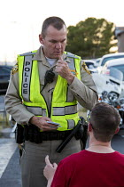 23-06-2016 - Las Vegas, Nevada, Police sobriety checkpoint, Vegas Valley Drive, detaining a driver for suspected alcohol or drug impairment © Jim West