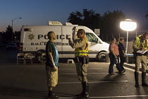 23-06-2016 - Las Vegas, Nevada, Police sobriety checkpoint, Vegas Valley Drive, detaining a driver for suspected alcohol or drug impairment. Checking pupil response and walking the line © Jim West