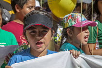 03-08-2016 - Sacramento, USA ,Children of domestic workers protest for a permanent Domestic Workers Bill of Rights © David Bacon