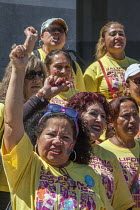 03-08-2016 - Sacramento, USA, Domestic workers protest for a permanent Domestic Workers Bill of Rights © David Bacon