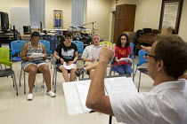 30-06-2016 - Las Vegas, Nevada, Disabled in a a music program by the nonprofit Opportunity Village. © Jim West