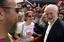 01-09-2016 - Jeremy Corbyn signing autographs, leadership election rally, Hanley, Stoke on Trent © John Harris