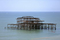 11-09-2016 - Kayaking in the sea around the derelict West Pier Brighton © Jess Hurd