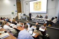 16-09-2016 - John McDonnell MP speaking at Bullying and Blacklisting Conference, Greenwich University, South London. © Jess Hurd