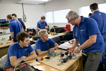 22-09-2016 - Electrical Instructor teaching apprentices, Apprentices at Tata Steel Port Talbot, South Wales © Jess Hurd