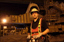 22-09-2016 - Electrician, Con Cast, Tata Steel Port Talbot, South Wales © Jess Hurd