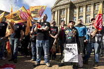 02-10-2016 - Anti austerity Protest, Tories Out, Austerity has Failed, Victoria Square, Birmingham. I want a Fair Deal Before I Kick the Bucket © John Harris