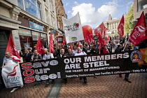 02-10-2016 - Save Our Steel, Anti austerity Protest, Tories Out, Austerity has Failed, Victoria Square, Birmingham © Jess Hurd