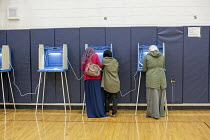 08-11-2016 - Michigan, USA 2016 Presidential election voting at a Dearborn Elementary School in a heavily Arab-American and Muslim neighborhood © Jim West