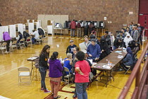 08-11-2016 - Michigan, USA 2016 Presidential election, voting at the Hamtramck Community Centre. The area has many immigrants mostly from the Middle East and South Asia © Jim West
