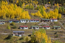 19-09-2016 - Leadville, Colorado, USA Gilman, Battle Mountain an abandoned mining town. The Eagle Mine was shut down in 1984 by the Environmental Protection Agency because toxic waste was contaminating ground wate... © Jim West