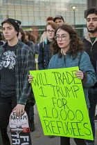10-11-2016 - Detroit, USA, Students protest against the election of Donald Trump as U.S. President, Wayne State University © Jim West