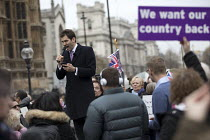 23-11-2016 - John Rees Evans, UKIP speaking, Brexit Feet in London, UKIP and far right supporters calling for Article 50, Westminster, London © Jess Hurd